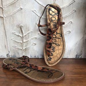 Sam Edelman Gigi fur animal print sandals